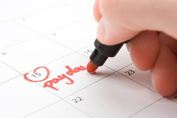 Payday on a Calendar