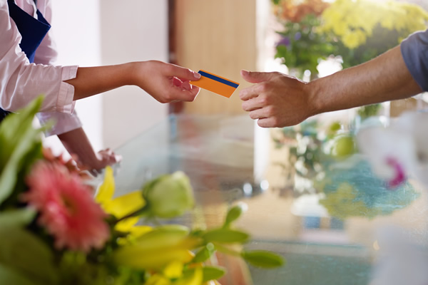 Paying Florist with Credit Card