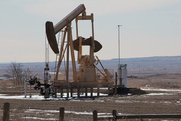 Nodding donkey oil pump Alberta Canada