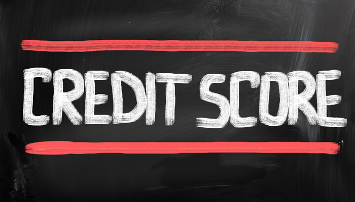 Credit Score on Chalkboard