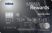 MBNA World Elite Rewards