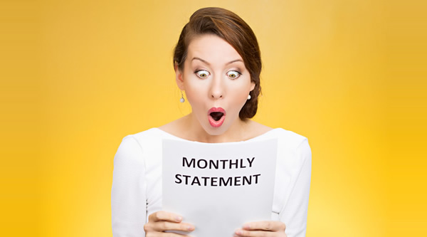 Surprised Monthly Statement