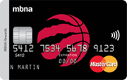 Toronto Raptors® MBNA Rewards MasterCard® Credit Card