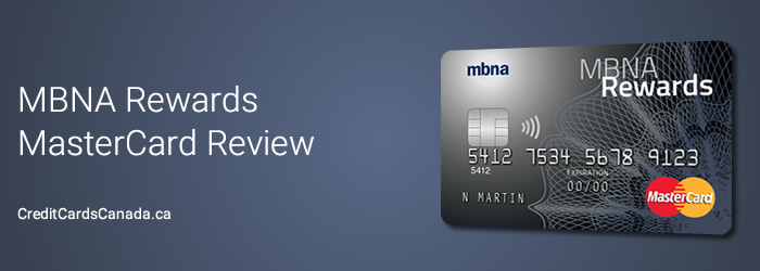 MBNA Rewards MasterCard Review